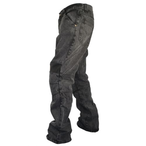 Мотоджинсы Mens Classic Fit Black Stonewash Denim Motorcycle Racing Pants